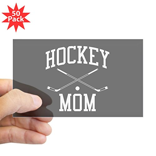 CafePress - Hockey Mom - Sticker (Rectangle 50 pk) by CafePress