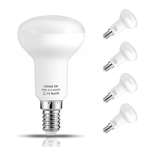 Lohas lampadine led riflettore 5 watt r50 e14 ses pari a for Lampadine led watt