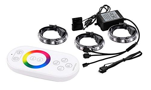 6 opinioni per DEEPCOOL RGB 360 Sistema di Illuminaziona a LED a Strisce con Controller Remoto