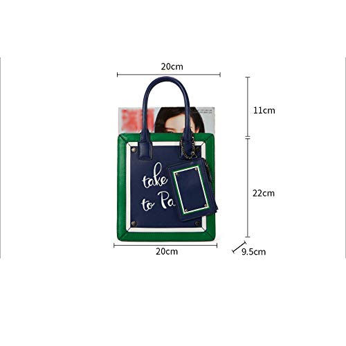 in A Colore Elegante Borsa Borse Mini Pelle Versione Elegante Lettera Borsa Mobile di della Marea Portatile Moda Corrispondenza Coreana RqIa0Uc