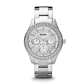 Fossil Damen Analog Quarz Uhr mit Edelstahl Armband ES2860 7