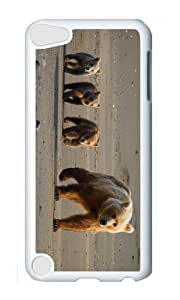 Ipod 5 Case,MOKSHOP Cool cute bear cubs Hard Case Protective Shell Cell Phone Cover For Ipod 5 - PC White