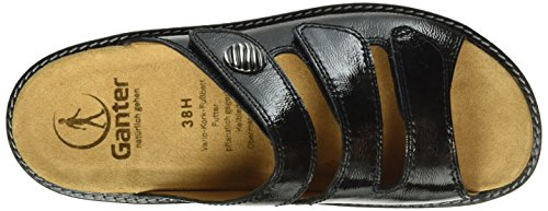 Ganter Ladies Hera, Wide H Mules Black (antracite 6200)