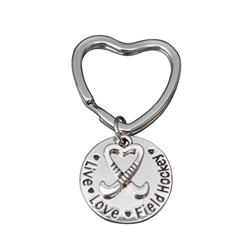 Field Player - Infinity Collection Field Hockey Keychain, Girls Field Hockey Jewelry, Field Hockey Live Love Charm Keychain for Girl Field Hockey Players, Moms & Coaches