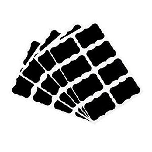 STARLIT 36pcs pegatinas de pizarrón de gis pizarrón Craft Etiquetas para tarros, cocina, oficina escuela, Negro, Una talla