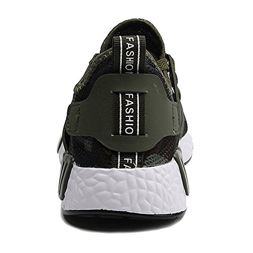 Meedot Hommes Chaussures Formateurs Baskets - Homme Respirant Chaussures De Plein Air Fonctionnement Chaussures Lacets Jogging Loisir Gym Sport Chaussures 39-44 Vert hhJTGcnIfJ