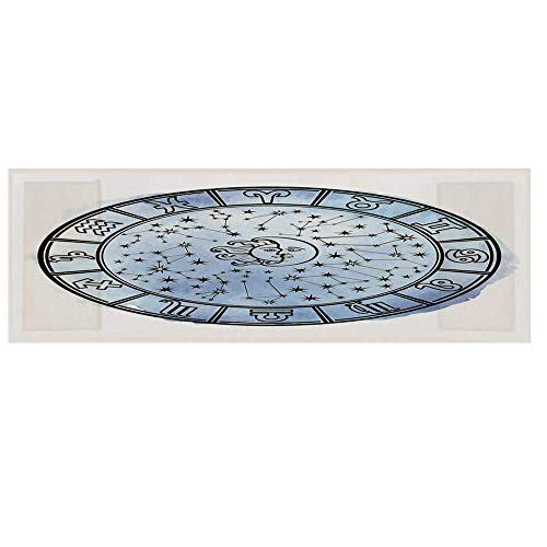 Sun and Moon Microwave Oven Cover with 2 Storage Bag,Astrology Circle Zodiac Signs and Fantastic Mystic Space Figures Cover for Kitchen,36