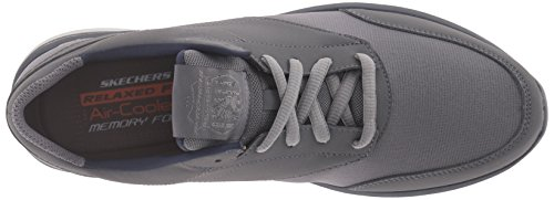 Skechers USA Mens Doren Mercier Oxford Charcoal