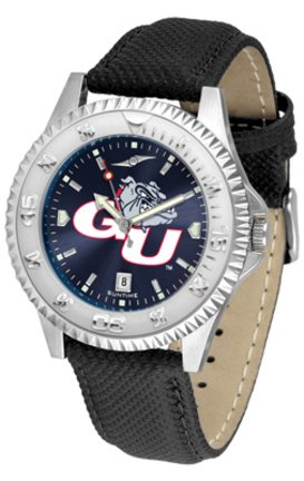 (Gonzaga Bulldogs Competitor AnoChrome Men's Watch with Nylon / Leather Band)