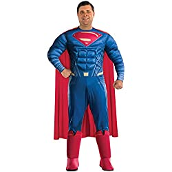 Rubie's Men's Batman v Superman: Dawn of Justice Deluxe Superman Plus Size Costume, Multi, One Size