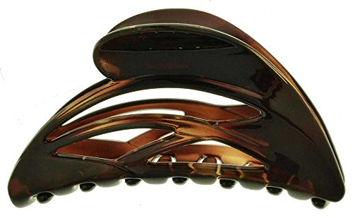 Dolphin Clasps - Camila Paris French Hair Clips for Women, Large Dolphin Tortoise Shell, Girls Hair Claw Clips Jaw Fashion Durable and Styling Hair Accessories for Women, Made in France