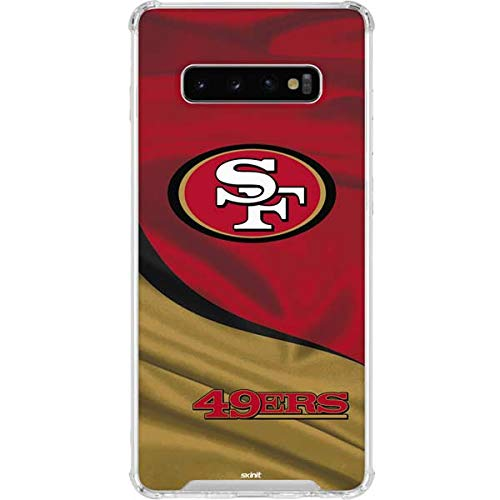 Skinit San Francisco 49ers Galaxy S10 Plus Clear Case - Officially Licensed NFL Phone Case - Transparent Galaxy S10+ Cover