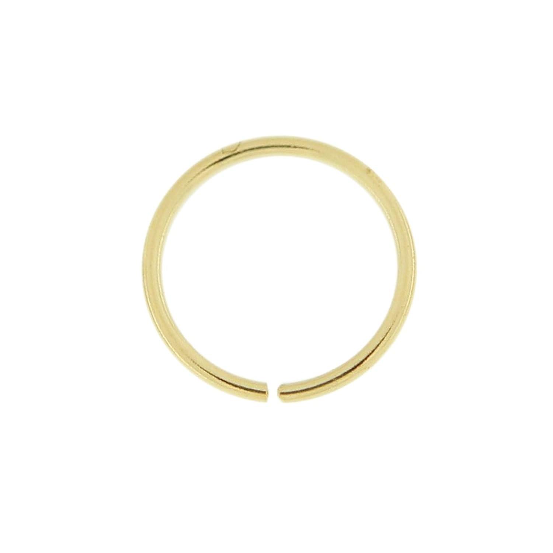 Calibrador de K oro MM de di?metro aro abierto continuo nariz anillo