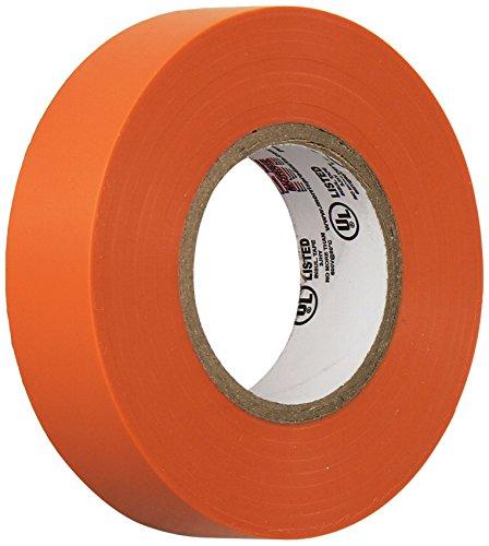 (Morris 60070 Orange Vinyl Plastic Electrical Tape, 7 mil, PVC, 66' Length, 3/4