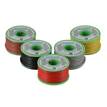 bntechgo 16 Gauge Silikon Draht Spule 5 Farben je Farbe 25 Ft red ...