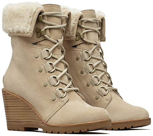 (Sorel After Hours Lace Shearling Boot - Women's Oatmeal, 9.0)