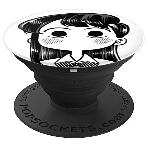 Anime Manga Curious Silly Face Chibi School Girl Meme - PopSockets Grip and Stand for Phones and Tablets