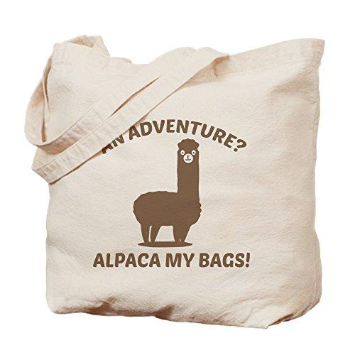 CafePress Alpaca My Bags Natural Canvas Tote Bag, Cloth Shopping Bag ()