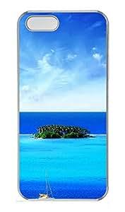 iPhone 5 5S Case Sea Island PC Custom iPhone 5 5S Case Cover Transparent