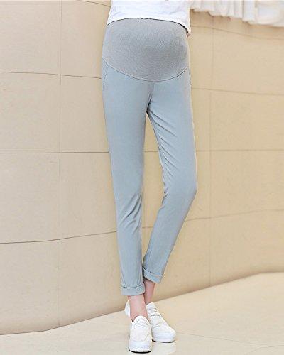Leggings Grigio Chino Gravidanza Alla Donna Caviglia Skinny Maternity Pantaloni UZ65Cwq