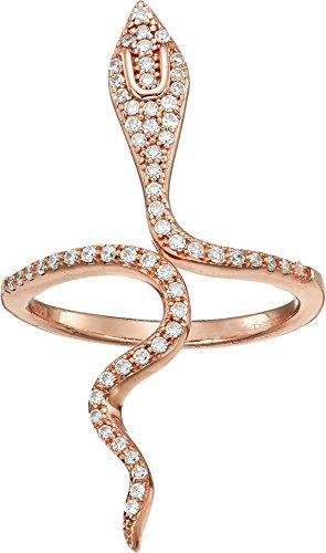 Shashi Women's Snake Wrap Ring Rose Gold One Size