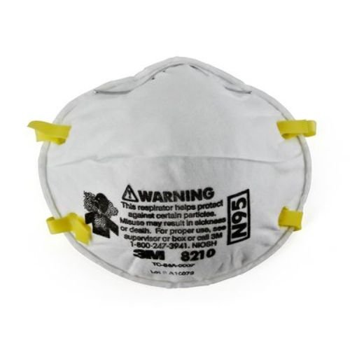 3M Health Care 8210 Particulate Respirator, Staple Free Attachment, Cup Style, Standard Size, White (Pack of 160)