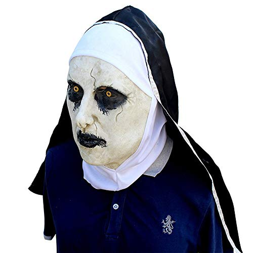 AILIUJUNBING Halloween Mask Masquerade Latex Party Dress Scared Female face Cover Adults Mask Realistic Men's Latex Party ()