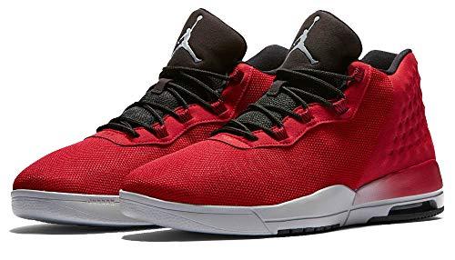 NIKE Mens Jordan Academy, Gym Red/Wolf Grey-Black, 8 (Jordan 8 Black Gym Red Black Wolf Grey)
