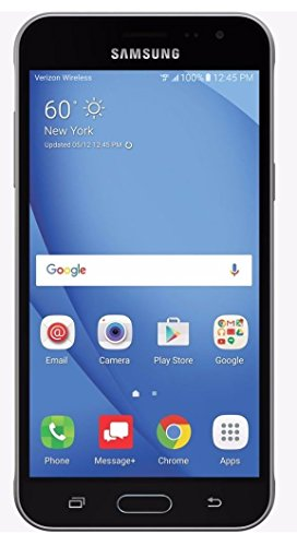 Samsung Galaxy J3 (2016) J320V Verizon CDMA 4G LTE Quad-Core Phone w/ 8MP Camera- Black (Renewed) (Best Basic Touch Screen Phone)