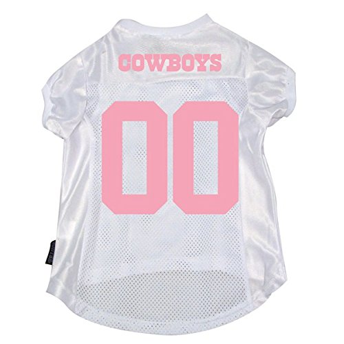 Dallas Cowboys Pet Dog Mesh Pink Football Jersey LARGE Licensed