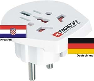 Extranjero–Adaptador de viaje adaptador a corriente de Alemania Schuko conector–Adaptador de red para conector de Croacia 220–230V Conversión Conector Viaje Conector German Travel Adapter Croatia