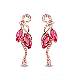 Rose Gold Diamond Tourmaline Earrings