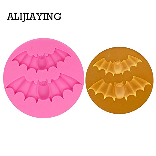1 piece M0698 1Pcs Halloween Silicone Mold Bat Mould For Sweets Jelly Cake Decoration Sugarpaste Craft Bakeware -