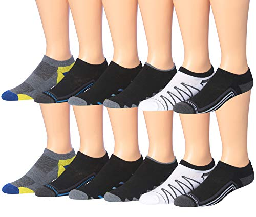 Low Socks Cut Performance Mens (James Fiallo Men's 12-Pairs Low Cut Athletic Socks, (Sock size 10-13) Fits shoe size 6-12, 2885-12)
