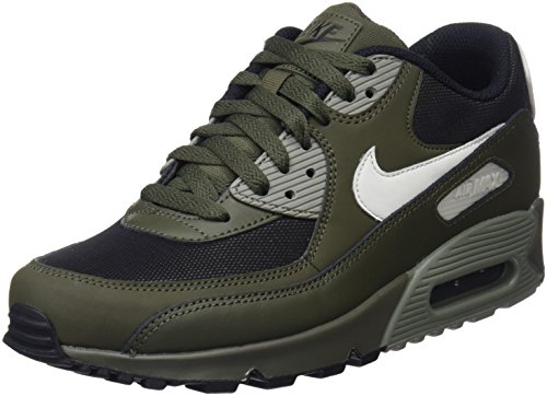 NIKE Men's Air Max '90 Shoes Cargo Khaki/Light Bone 9.5
