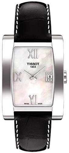 Tissot-Generosi-T-Black-Leather-Mother-of-Pearl-Dial-Womens-Watch-T0073091611302