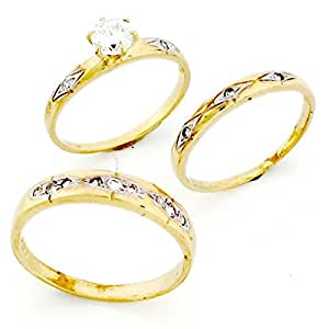 Amazon.com: Jewelry Liquidation 10k Gold His & Hers Trio 3