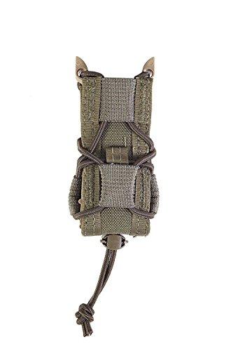 (HSGI Belt Mount Pistol TACO Single Magazine MAG Pouch - Olive Drab, Two Pack)