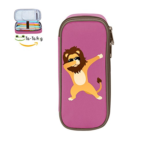 Durable Stationery With Double Zipper Large Capacity Dabbing Lion With Sunglasses Stationary Box Make Up Bag Pen Bag Pencil - Sunglasses Lion Last