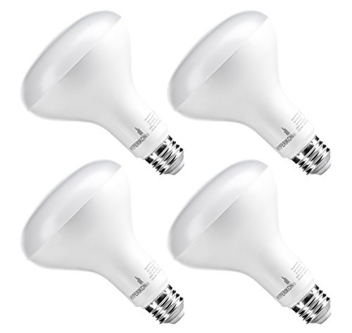 Hyperikon Radar BR30 Motion Sensor Detector LED Light Bulb, PIR, 9W (65W equivalent), 3000K (Soft White Glow), 650 Lumen, Wide Flood Light, Medium Base (E26), UL-Listed - (Pack of 4)