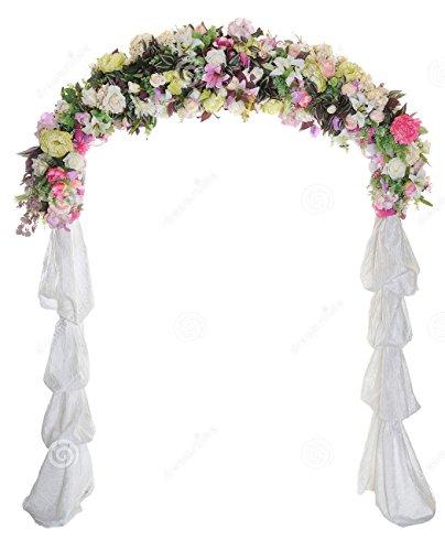 Wedding Arch Way Garden Quinceanera Party Flowers Balloon Decoration White Metal .#GH45843 3468-T34562FD406659