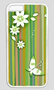 Butterfly and flowers Thanksgiving Halloween Masterpiece Limited Design PC Transparent Case for iphone 6 by Cases & Mousepads