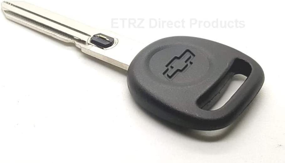 5. for: 1997-04 Chevrolet Corvette Vehicles Strattec V.A.T.S No GM 598515 Corvette Style Big Head Double Sided Ignition Key Blank w//Chevy Logo and Vats Resistor Chip #5