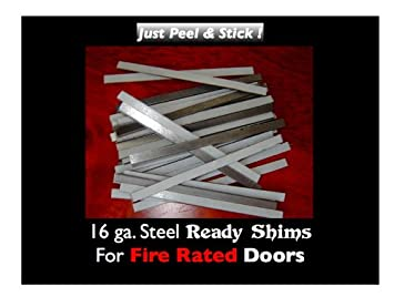 READY SHIMS FOR COMMERCIAL FIRE DOORS (PACK OF 100)  sc 1 st  Amazon.com & READY SHIMS FOR COMMERCIAL FIRE DOORS (PACK OF 100) - Door Hinges ... pezcame.com