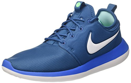 Nike Roshe Two, Scarpe Running Uomo Blu (Industrial Blue/White/Photo Blue)