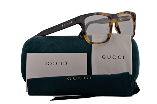 Gucci GG0269O Eyeglasses 56-16-145 Havana Black w/Demo Clear