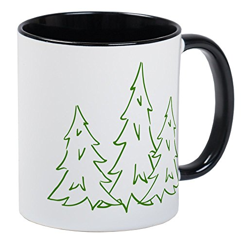 (CafePress Three Pine Trees Mug Unique Coffee Mug, Coffee Cup)