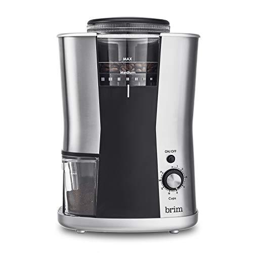 Brim Conical Burr Coffee Bean Grinder (Gravity Coffee Grinder)