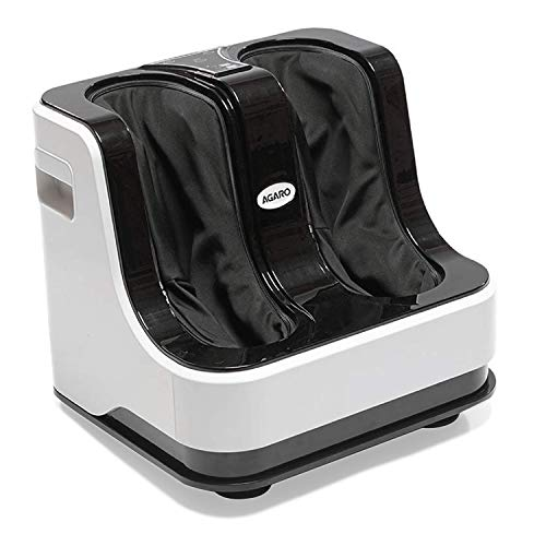 AGARO 33159 Relaxing Foot & Calf Massager with Rolling & Kneading Functions for Pain Relief & improving Blood Circulation (White)