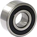 C&U 3203-2RSLC3 Double Row Angular Contact Ball Bearing, ABEC1 Precision, Improved Double Seal, Nylon 66+25% Glass Filled Cage, C3 Clearance, 17 mm Bore, 40 mm OD, 17.5 mm Width, 8.41 kN Static Load Capacity, 12.75 kN Dynamic Load Capacity